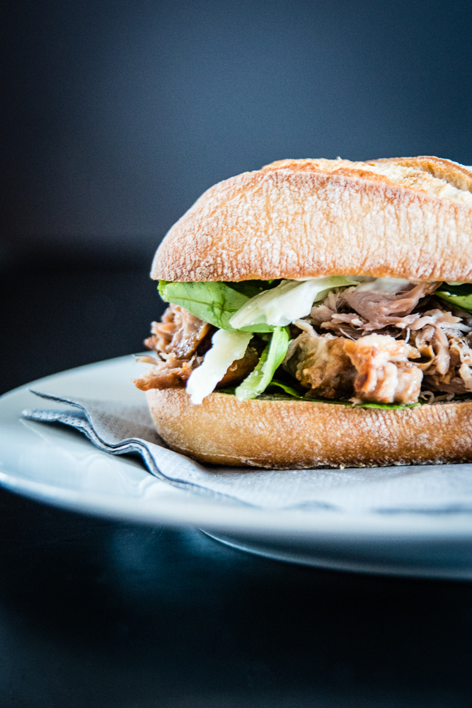 a classic from England: pulled pork sandwich