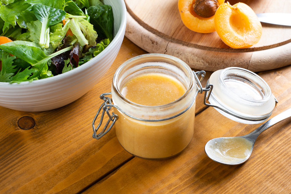 vinaigrette made with apricot and vinegar